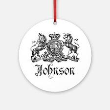 Johnson Vintage Family Crest Ornament (Round)