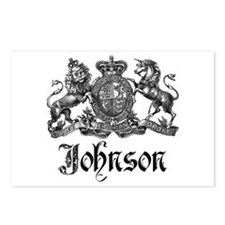 Johnson Vintage Family Crest Postcards (Package of