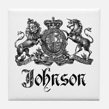 Johnson Vintage Family Crest Tile Coaster