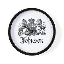 Johnson Vintage Family Crest Wall Clock