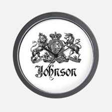 Johnson Vintage Family Crest Wall Clock