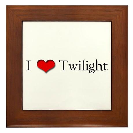 I Love Twilight Framed Tile