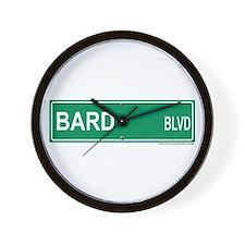Bard Blvd Wall Clock