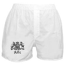 Alba Vintage Crest Family Name Boxer Shorts