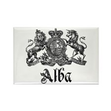 Alba Vintage Crest Family Name Rectangle Magnet