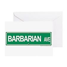 Barbarian Ave Greeting Card