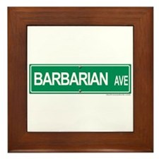 Barbarian Ave Framed Tile