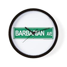 Barbarian Ave Wall Clock