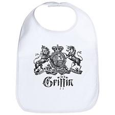 Griffin Family Name Vintage Crest Bib