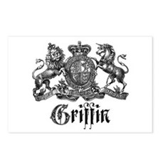 Griffin Family Name Vintage Crest Postcards (Packa