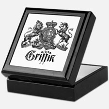 Griffin Family Name Vintage Crest Keepsake Box