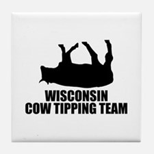 Wisconsin Cow Tipping Team Tile Coaster