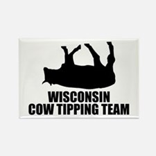 Wisconsin Cow Tipping Team Rectangle Magnet