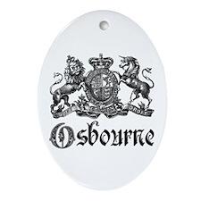 Osbourne Vintage Family Name Crest Oval Ornament