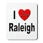 I Love Raleigh Mousepad