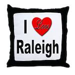 I Love Raleigh Throw Pillow