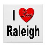I Love Raleigh Tile Coaster