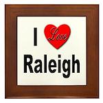 I Love Raleigh Framed Tile