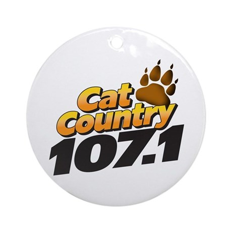 Cat Country Ornament (Round)