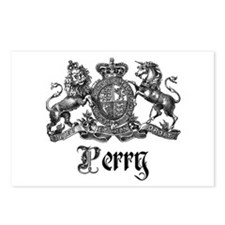 Perry Vintage Family Name Crest Postcards (Package