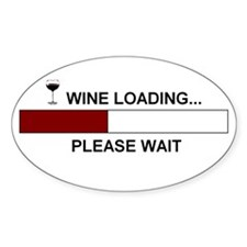WINE LOADING... Oval Sticker