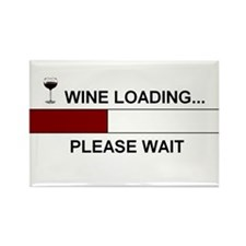 WINE LOADING... Rectangle Magnet (100 pack)