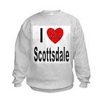 I Love Scottsdale (Front) Kids Sweatshirt