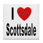 I Love Scottsdale Tile Coaster