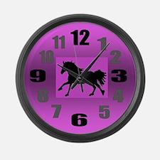 Running Horse Large Wall Clock