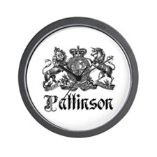 Pattinson Vintage Family Name Crest Wall Clock
