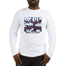 Himalayas Paint Border Long Sleeve T-Shirt