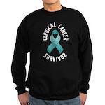 Cervical Cancer Survivor Sweatshirt (dark)