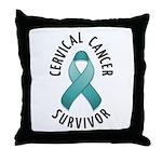 Cervical Cancer Survivor Throw Pillow