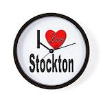 I Love Stockton Wall Clock