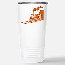 The Orange Train Travel Mug