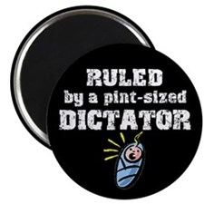 Pint-Sized Dictator Magnet (Black)