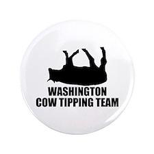"Washington Cow Tipping Team 3.5"" Button"
