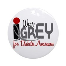 I Wear Grey For Diabetes Awareness 32 Ornament (Ro