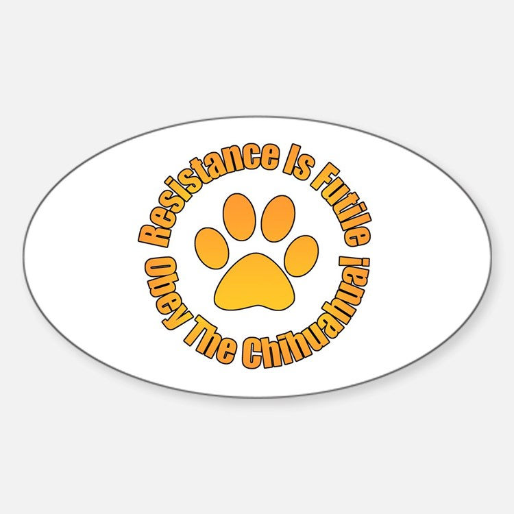 Chihuahua Sticker (Oval)