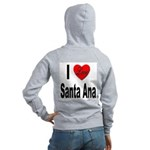 I Love Santa Ana (Back) Women's Zip Hoodie