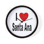 I Love Santa Ana Wall Clock