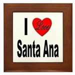 I Love Santa Ana Framed Tile