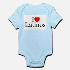 """""""I Love (Heart) Latinos"""" Infant Bodysuit"""