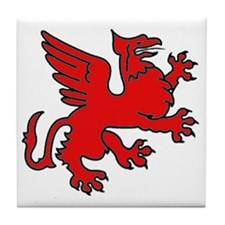 Red Griffin Tile Coaster