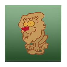 Friendly Lion Tile Coaster