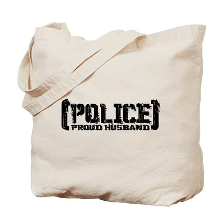 Police Proud Husband Tote Bag