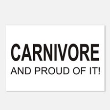 Proud Carnivore Postcards (Package of 8)