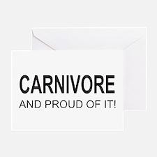 Proud Carnivore Greeting Card