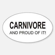 Proud Carnivore Oval Decal