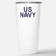 Navy Masons Stainless Steel Travel Mug